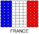 France Flag Pin Pattern