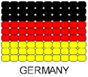 Germany Flag Pin Pattern