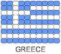 Greece Flag Pin Pattern