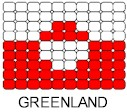 Greenland Flag Pin Pattern