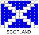 Scotland Flag Pin Pattern