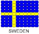 Sweden Flag Pin Pattern