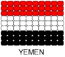 Yemen Flag Pin Pattern
