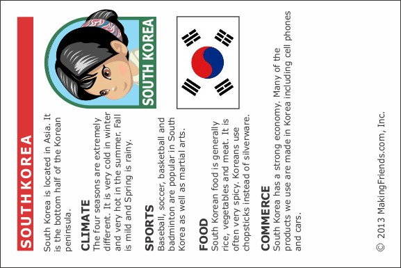 South Korea Fact Sheet