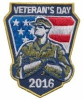 girl scout patch veterans day 2016