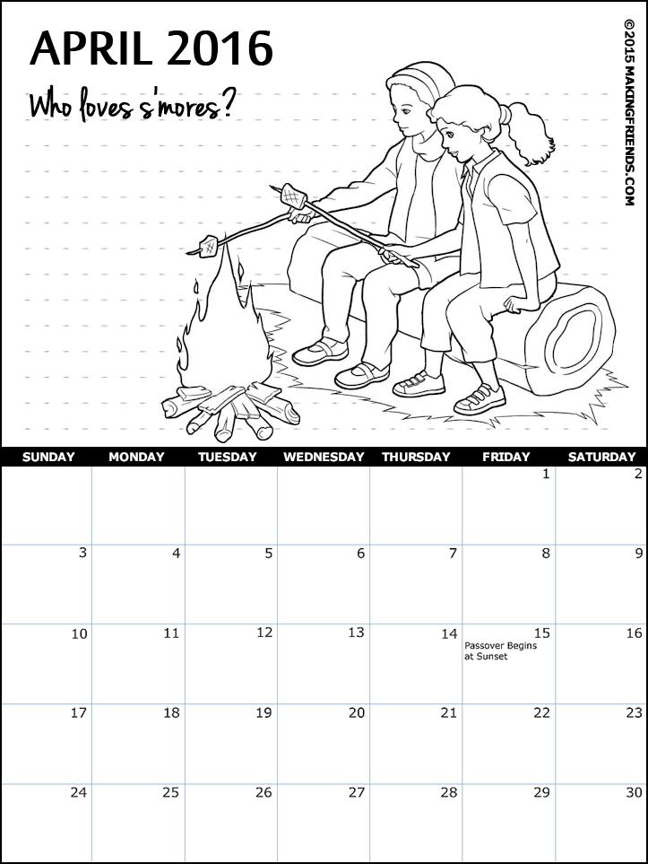 Calendar Girl April Read : Girl scout april calendar makingfriendsmakingfriends