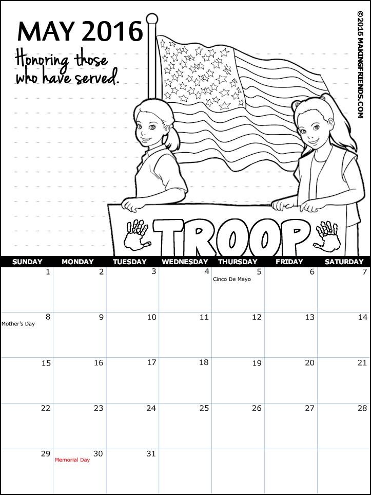 Calendar Girl May Pdf : Girl scout may calendar makingfriendsmakingfriends