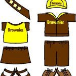 Uniforms for English Girl Guide Brownies Paper Doll Friends