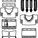 Native American Paper Doll Friends outline