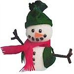 Girl Scout snowman ornament