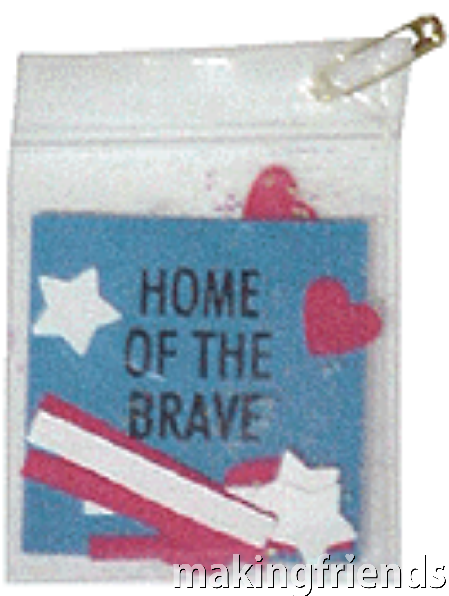 Patriotic Bag Pins for Swapping. Use our free printable inserts and your own patriotic symbols to fill mini bags to make pins. Great for any patriotic occasion including Memorial Day and Veteran's Day. Trade with other scouts or hand out to Veterans. Directions available at MakingFriends.com via @gsleader411