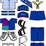 Australian Guide Uniform for Paper Doll in color