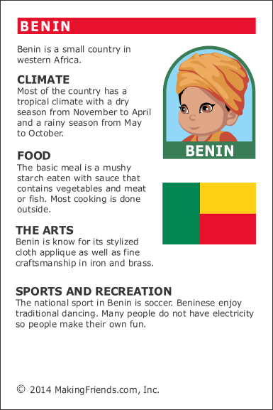 Facts About Benin Makingfriends