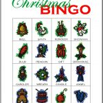 Christmas Bingo Card 1