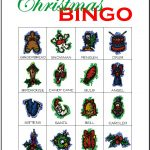 Christmas Bingo Card 10