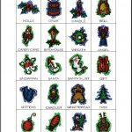 Christmas Bingo Card Calling Card