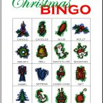 Christmas Bingo Card 4
