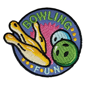 Girl Scouts Bowling Fun Patch (Purple)