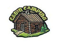 Girl Scout Cabin Camping Fun Patch