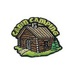 Girl Scout Cabin Camping Fun Patch