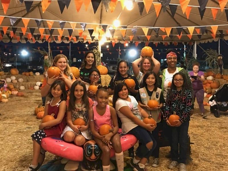 Cadette Girl Scouts Pumpkin Picking