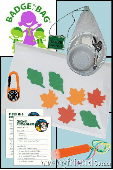 Girl Scout Camping Badge in a Bag via @gsleader411