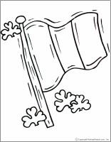 irish flag coloring page makingfriendsmakingfriends