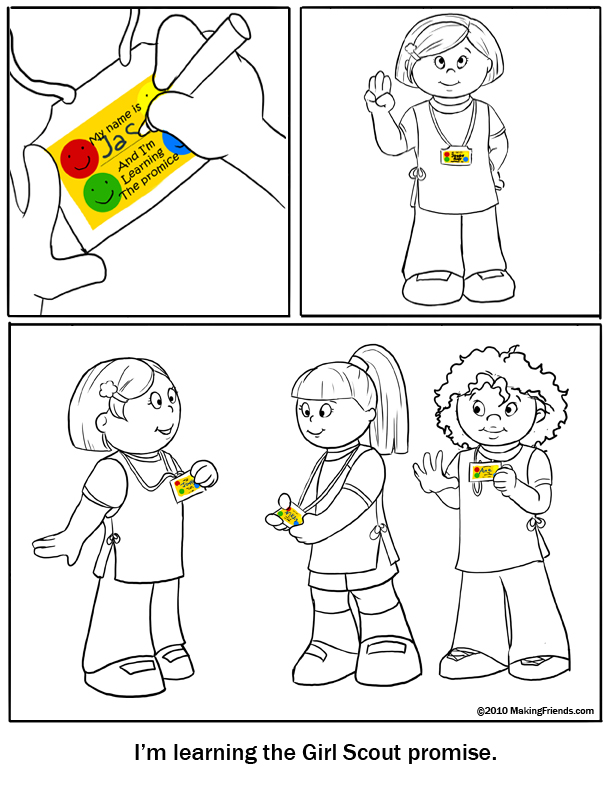 daisy girl scout promise coloring pages coloring page learning the promise