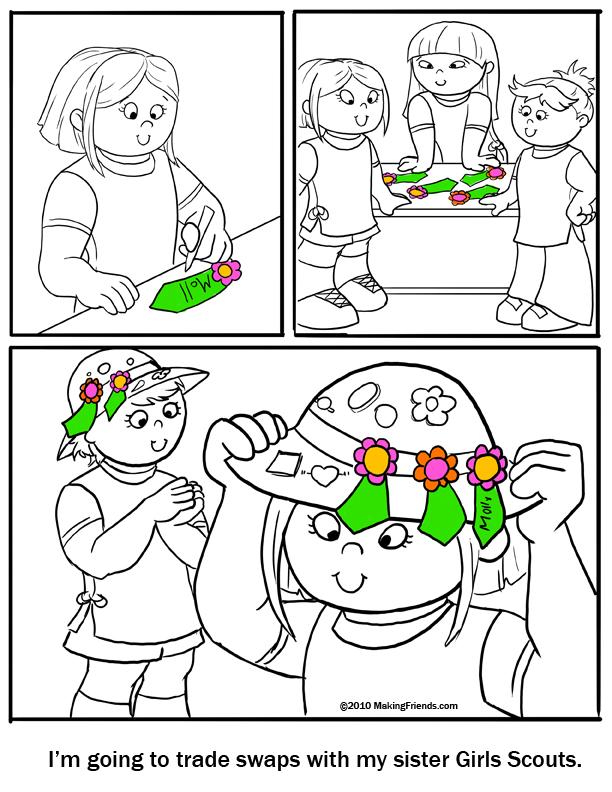 Girl Scout Coloring Pages  MakingFriendsMakingFriends
