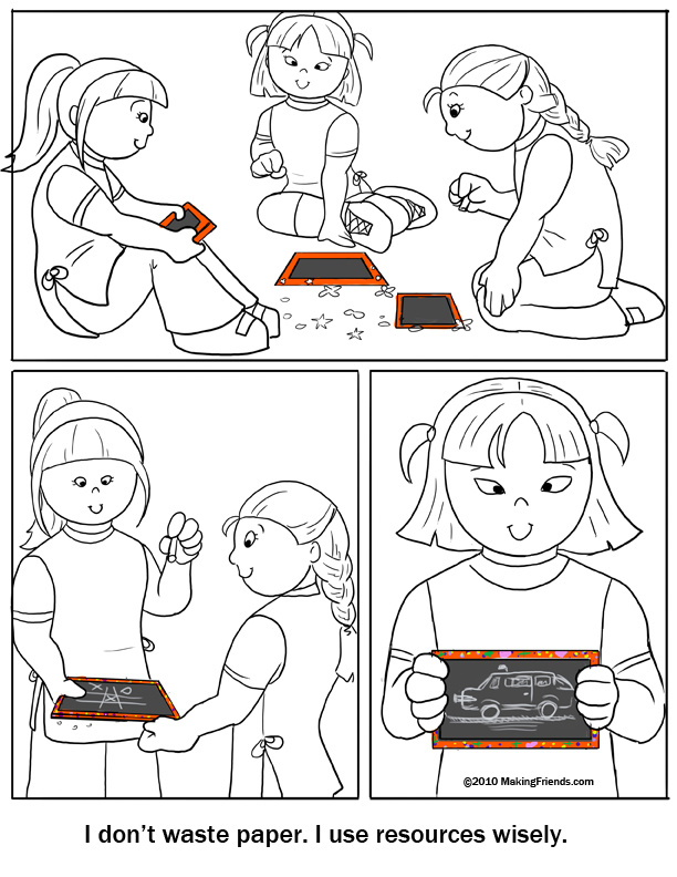 Coloring page use resources wisely for Daisy petal coloring page