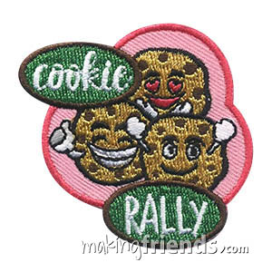 Cookie Rally Patch. There is no better way to start cookie season than with a cookie rally. And there is no better way to add to the excitement than with our Cookie Rally patch! Available at MakingFriends®.com. via @gsleader411