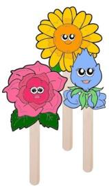 daisy-flower-puppets