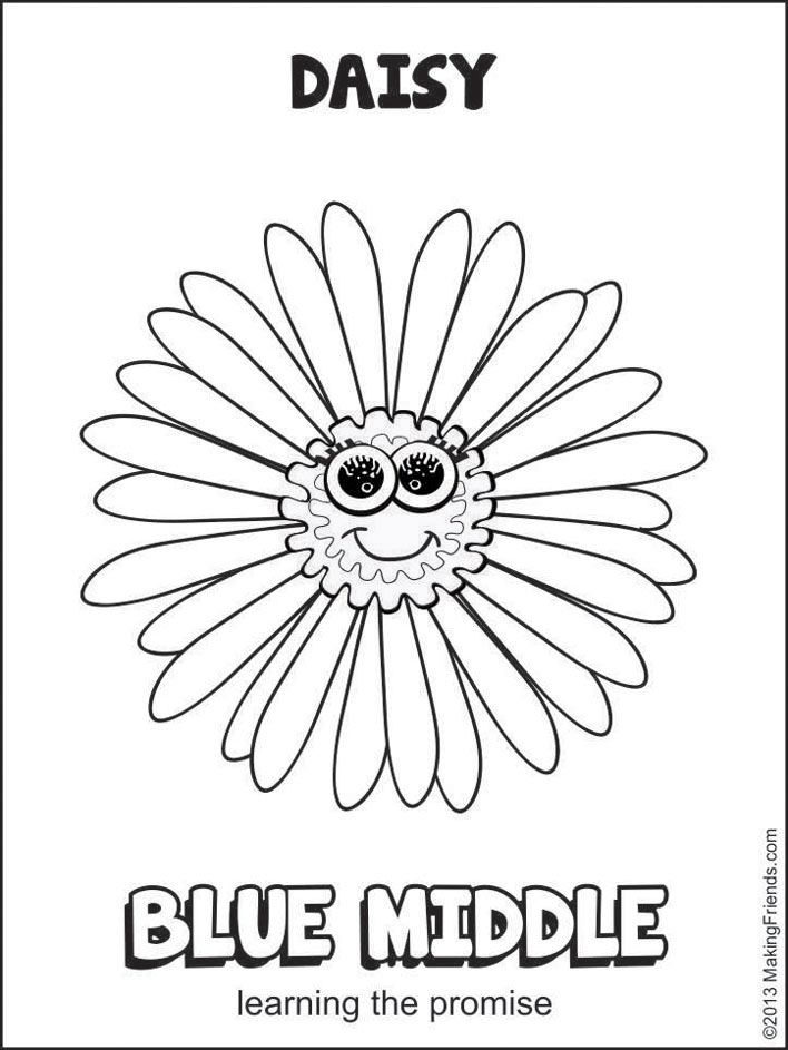 girl scout daisy coloring pages Petals Coloring Pages   MakingFriendsMakingFriends girl scout daisy coloring pages
