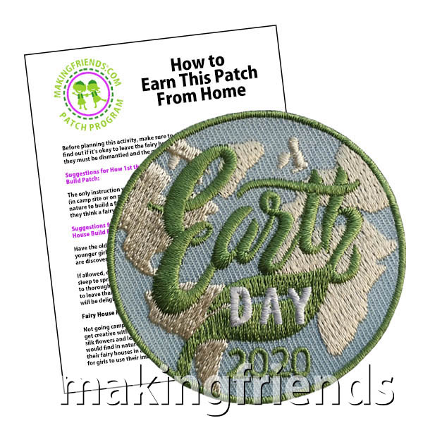 Celebrating Earth Day in 2020 may look a little different while your scouts are at home. But there are plenty of ways to make a difference from home. Take a look at our suggestions that can be done by one scout or family. They might also enjoy some of the craft and hands on Earth Day projects on our page Earth Day. Your scouts will love this this eye-catching Earth Day 2020 patch from MakingFriends®.com. #makingfriends #earthday #scoutingfromhome #juliettescout via @gsleader411