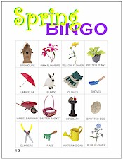 picture relating to Spring Bingo Game Printable referred to as Spring Bingo - MakingFriends