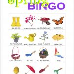 Spring Bingo Card 1
