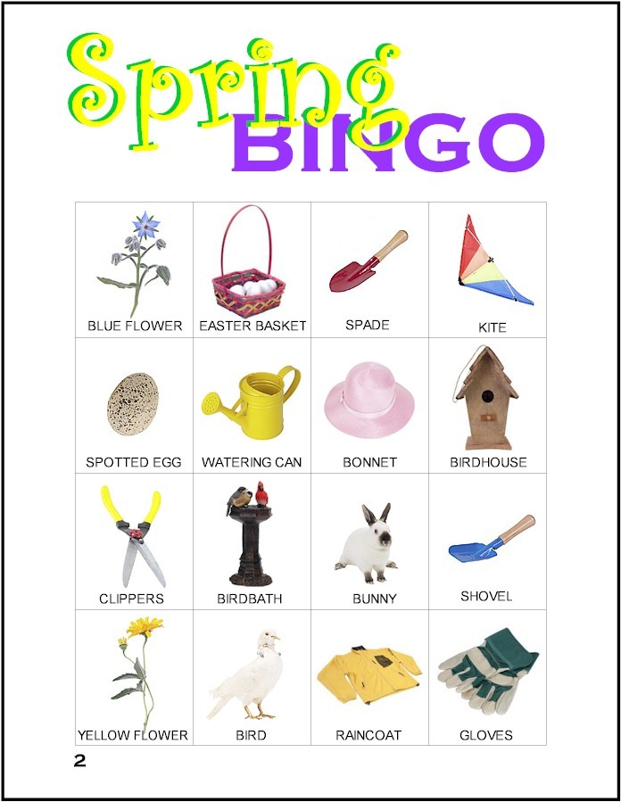 graphic about Spring Bingo Game Printable identified as Spring Bingo - MakingFriends