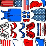 Patriotic Pattern Paper Doll Friend