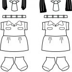 Bangladesh Girl Guide Paper Doll Friends| Uniform outline