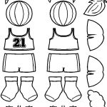 Basketball Paper Doll Friends