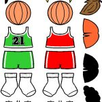 Basketball Paper Doll Friends in color