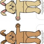 Bunny Paper Doll Friends