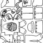 Easter Paper Doll Friends outlines
