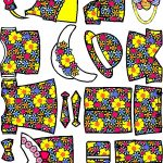 Easter Paper Doll Friends colorful clothes