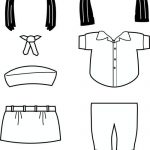 Egypt Girl Guide Paper Doll Friends| Uniform outline
