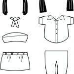 Egypt Girl Guide Paper Doll Friends| Uniform outline