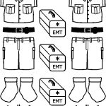 EMT  Friends clothing outlines to color
