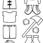 Fireman Paper Doll Friends