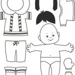 Paper Doll Inuit Outline