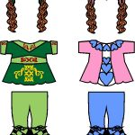 Irish Step Dancing Paper Doll Friends